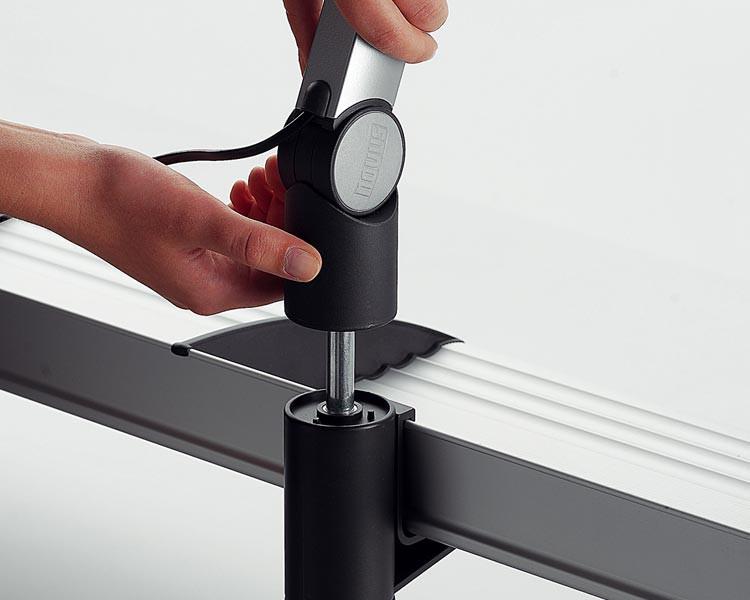 Novus PhoneMaster Schreibtisch Telefonhalterung lichtgrau